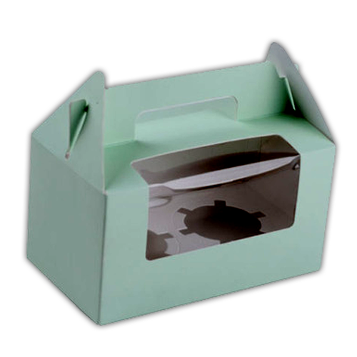 Personalised Cupcake Boxes With Gable Top Amp Pvc Windows