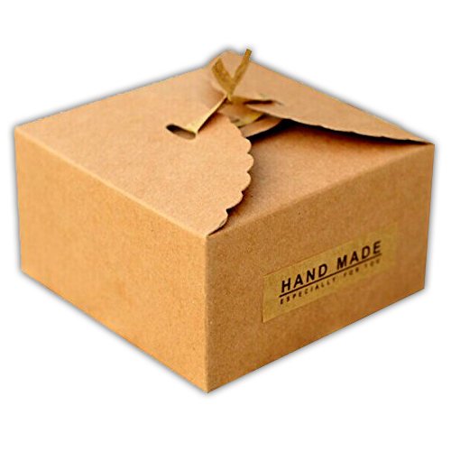 100 Recyclable Customised Brown Kraft Cake Packaging
