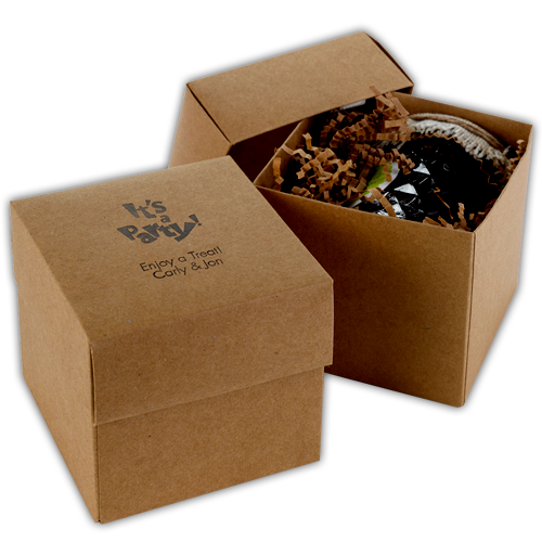 Customised brown kraft cupcake boxes for parties and for Eco boxes