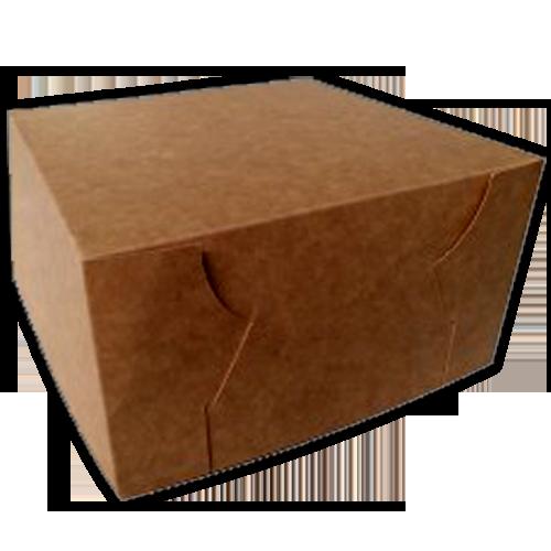 100 Recyclable Customised Brown Kraft Cake Packaging